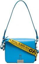 Off-White - Borsa a spalla - women - Leather/Polyamide/Polyester/Viscose - One Size - Blu