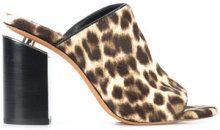 Alexander Wang - Avery leopard print mules - women - Leather/Calf Hair - 36, 36.5, 37, 37.5, 38.5 - BROWN