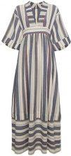 Three Graces - Maxi abito con scollo a V - women - Acetate/Cotone - 6, 8, 12, 10, 14 - BLUE