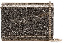 Jimmy Choo - metallic Candy glitter envelope clutch - women - Acrylic - One Size - Metallizzato