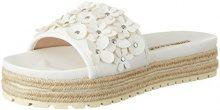 Buffalo Shoes 316-4162 Leather PU, Sandali con Zeppa Donna, Bianco (White), 40 EU