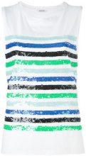 P.A.R.O.S.H. - Top a righe senza maniche - women - Cotone/PVC - XS, S - WHITE