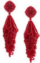 Sachin & Babi - beaded chandelier earrings - women - Glass Fiber - OS - Rosso