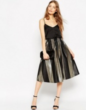 ASOS - Gonna longuette a righe metallizzate vistose