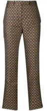 Etro - geometric jacquard trousers - women - Polyester - 40, 42, 44, 46, 48 - Marrone
