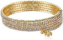 Anne Klein argentato a più fili con cristalli Flex, lunghezza 12cm, base metal, colore: Gold, cod. 60377204-887