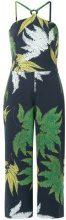 Andrea Marques - printed midi jumpsuit - women - Cotone/Spandex/Elastane - 42, 44 - BLUE