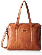 Spikes & Sparrow Zip Bag - Borsette da polso Donna, Braun (Brandy), 9x23x26 cm (B x H T)