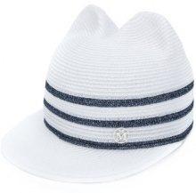 Maison Michel - Cappello con tre righe - women - Straw - S - WHITE