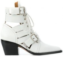 Chloé - Stivaletti 'Rylee' - women - Calf Leather/Leather - 37, 38, 39, 37.5, 39.5 - WHITE