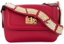 Red Valentino - scale patch shoulder bag - women - Leather - OS - RED