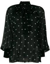 MSGM - polka dot pussy bow blouse - women - Silk/Polyester - 38, 40, 42, 44 - Nero