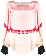 Giacobino - Blusa con decorazione con frange - women - Silk/Polyamide - 38 - Rosa & viola