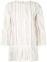 Goen.J - tweed top - women - Acrylic/Wool/Cotone/Polyester - S - Bianco