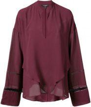 Derek Lam - V-neck blouse - women - Silk - 40 - Rosso