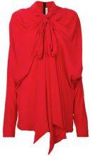 Marni - Blusa con fiocco - women - Silk/Acetate - 40 - RED