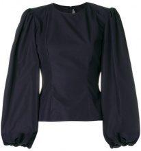 Calvin Klein 205W39nyc - Blusa con maniche a palloncino - women - Cotone - 42, 44, 40 - Blu