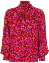 Yves Saint Laurent Vintage - Blusa floreale - women - Silk - 38 - Rosso