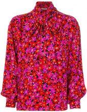 Yves Saint Laurent Vintage - Blusa floreale - women - Silk - 38 - RED