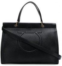 Salvatore Ferragamo - Borsa tote Gancini - women - Calf Leather - One Size - Nero