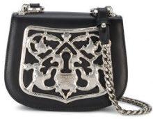 Prada - Borsa con motivo metallizzato - women - Calf Leather/Metal (Other) - One Size - Nero