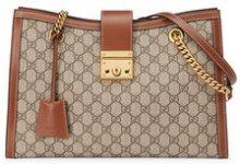 Gucci - Borsa a spalla 'Padlock' in tessuto GG Suprem - women - Leather/Canvas/Microfibre - One Size - NUDE & NEUTRALS