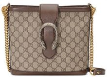 Gucci - Borsa a secchiello 'Dionysus' - women - Canvas/Leather/Silk - One Size - NUDE & NEUTRALS