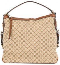 Gucci Vintage - Grid pattern handbag - women - Canvas/Leather - OS - BROWN