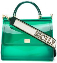 Dolce & Gabbana - Sicily tote - women - Cotone/Leather/PVC - One Size - GREEN
