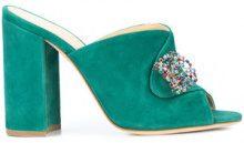 Chloe Gosselin - Sienna embellished mules - women - Calf Suede - 36, 37, 38, 39, 40 - Verde