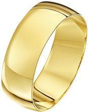 Theia-Bracciale Unisex in oro giallo 18 k, forma a D, 7 mm, Oro giallo, 25, colore: giallo, cod. TH10103