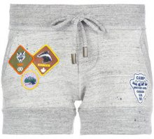 Dsquared2 - track shorts with patch appliqué - women - Cotone - S - GREY