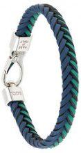 Tod's - braided bracelet - men - Calf Leather - OS - Blu