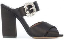 Tabitha Simmons - embellished mules - women - Acetate - 35.5, 36, 37 - Nero