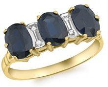 Carissima Gold Anello da Donna in Oro Giallo 9K con Diamante, Misura 17.2