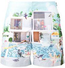 Orlebar Brown - pantaloncini da mare con stampa di piscina 'Bulldog' - men - Polyester - 28 - Multicolore