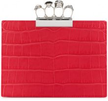 Alexander McQueen - jewelled four-ring clutch - women - Leather - One Size - Rosso