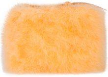 Nina Ricci - Marabou feather clutch bag - women - Piume di Marabou - OS - Giallo & arancio