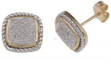 E-11049 - Orecchino da donna con diamante, oro giallo 9k (375)
