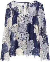 FIND 24753 maglie donna eleganti, Blu (Blue Mix), 46 (Taglia Produttore: Large)