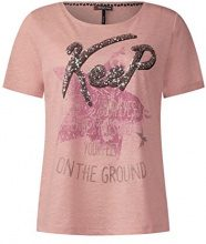 Street One 311452, T-Shirt Donna, Rosa (Studio Rose 30978), 44 (Taglia Produttore: 38)