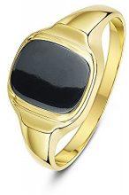 Theia Uomo  9 carati  oro giallo cuscino   grigio Ematite