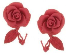 Olgafacesrok - flower earrings - women - Polyamide - OS - Rosso