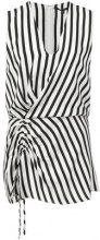 Derek Lam - Sleeveless Asymmetrical Ruched Blouse - women - Silk - 36, 42, 44, 38, 40, 46, 48 - Nero