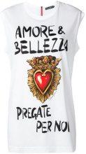 Dolce & Gabbana - Canotta stampata - women - Cotone/Polyester - 42, 38, 40, 44, 46 - WHITE