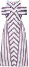 Fendi - Vestito midi svasato - women - Silk/Cotone/Polyester - 38, 40, 42, 44 - WHITE