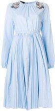 - Rochas - Vestito con applicazioni - women - Spandex/Elastane/Cotone - 42, 40 - Blu