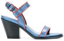 A.F.Vandevorst - Sandali 'Brick' - women - Calf Leather/Leather - 38, 39, 40 - Blu