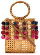 Serpui - embellished straw bag - women - Straw - OS - NUDE & NEUTRALS