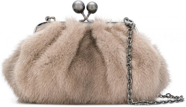 Max Mara - Mini Pasticcino bag - women - pelliccia di visone fibra  sintetica - Taglia Unica - di colore grigio. Mini Pasticcino bag dbd893fef8b